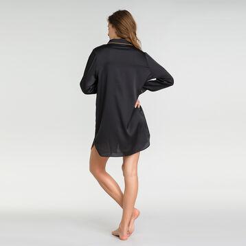 Camisón negro satén - Glamour Chic, , DIM