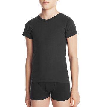 Tee-shirt manches courtes noir col V DYNAMIC Boy-DIM