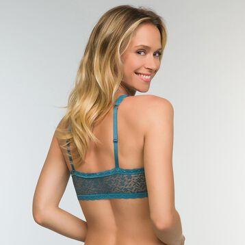 Bralette verde azulado con foam y encaje Daily Glam Trendy Sexy, , DIM
