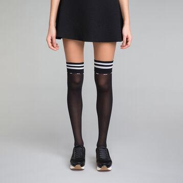 Calcetines altos negros y blancos Sporty Look - DIM Style, , DIM