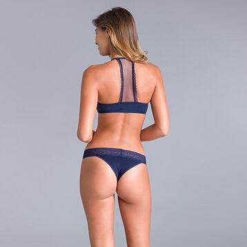 Slip brésilien bleu noir Table Panties-DIM