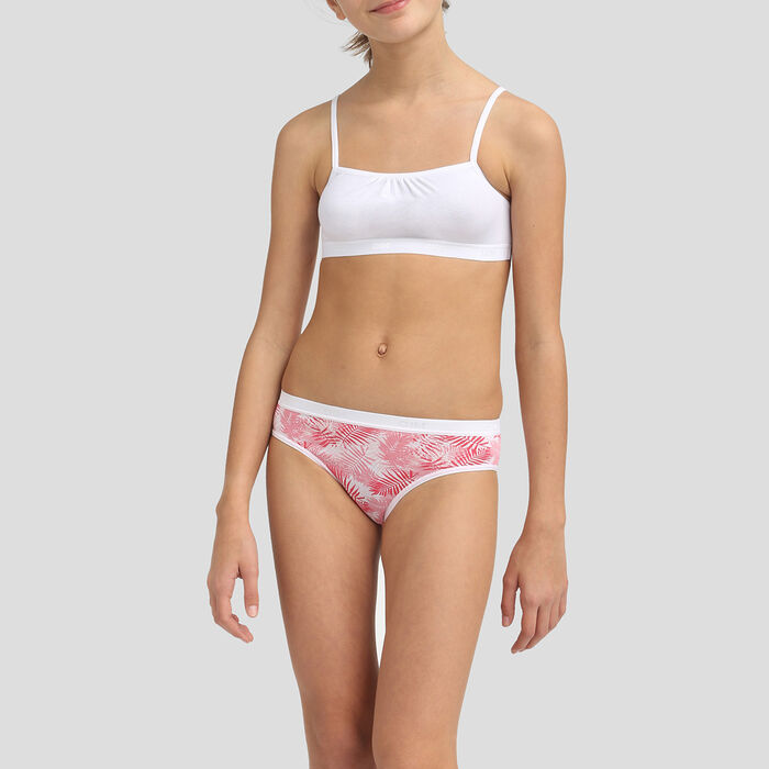 Pack 3+1 de braguitas para niña de algodón elástico Indien Les Pockets, , DIM
