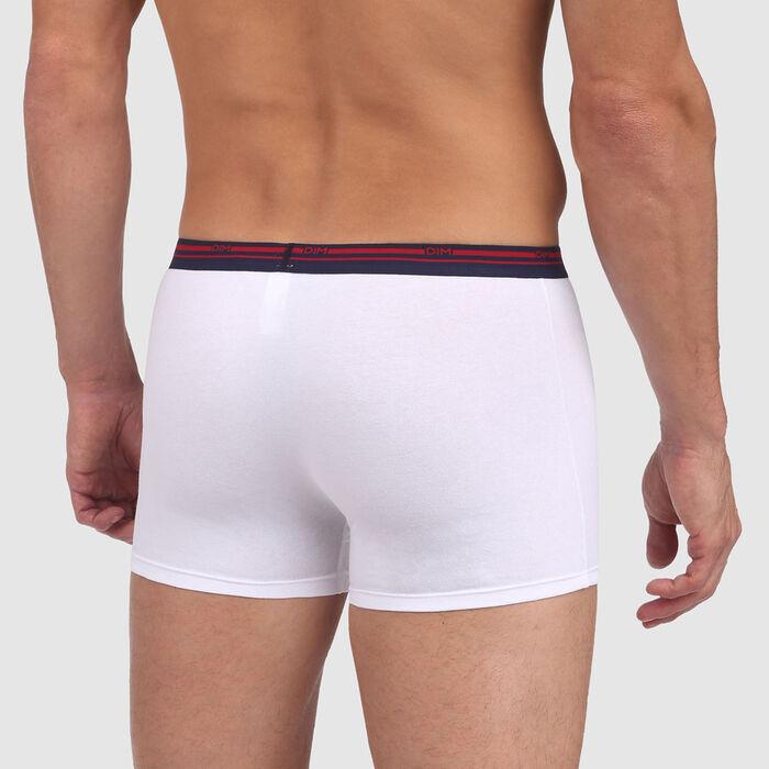 Bóxer blanco de algodón elástico con la cintura contrastada Classic Colors, , DIM