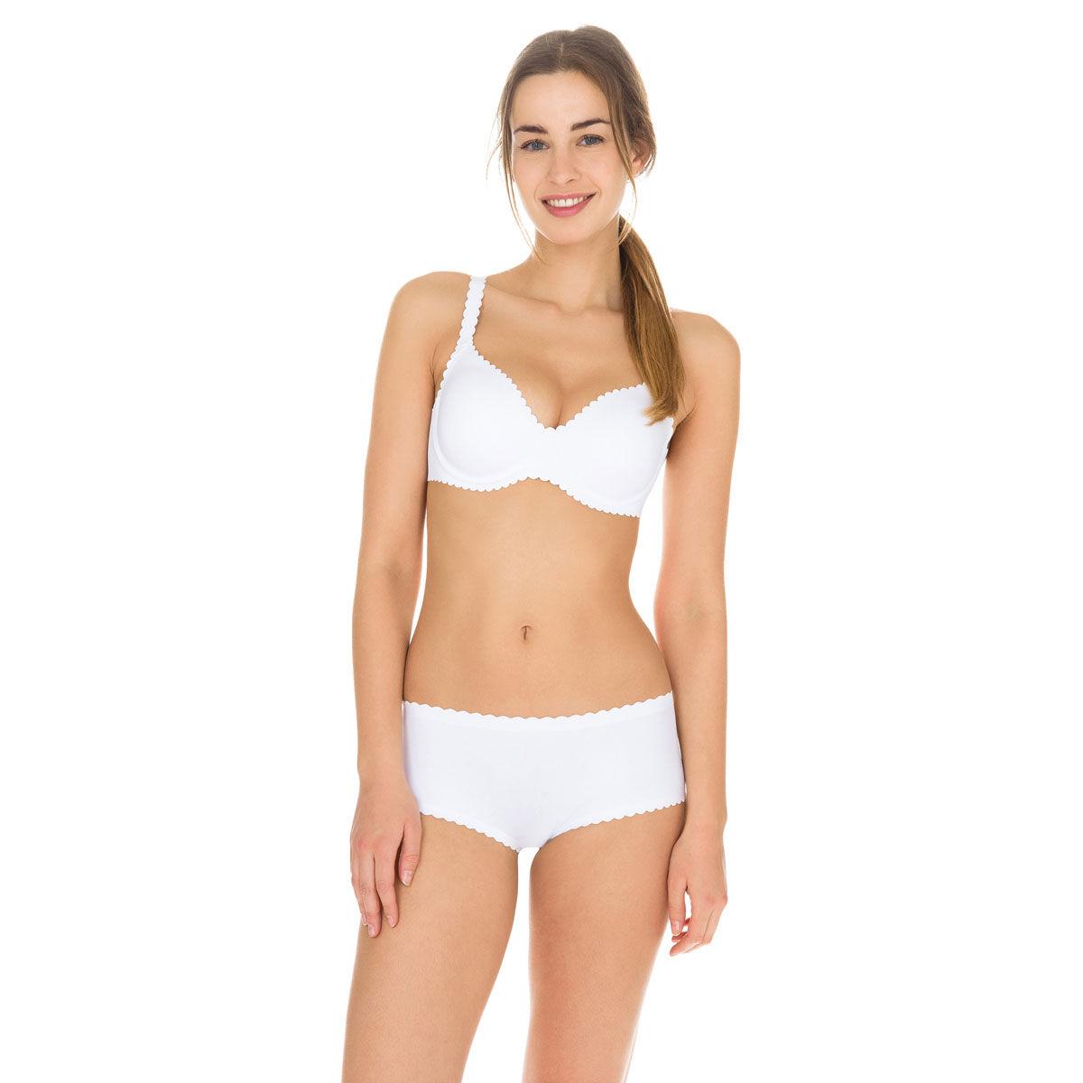 Bóxer Mujer Body Para Touch Segunda Blanco Piel OXkZTPiu