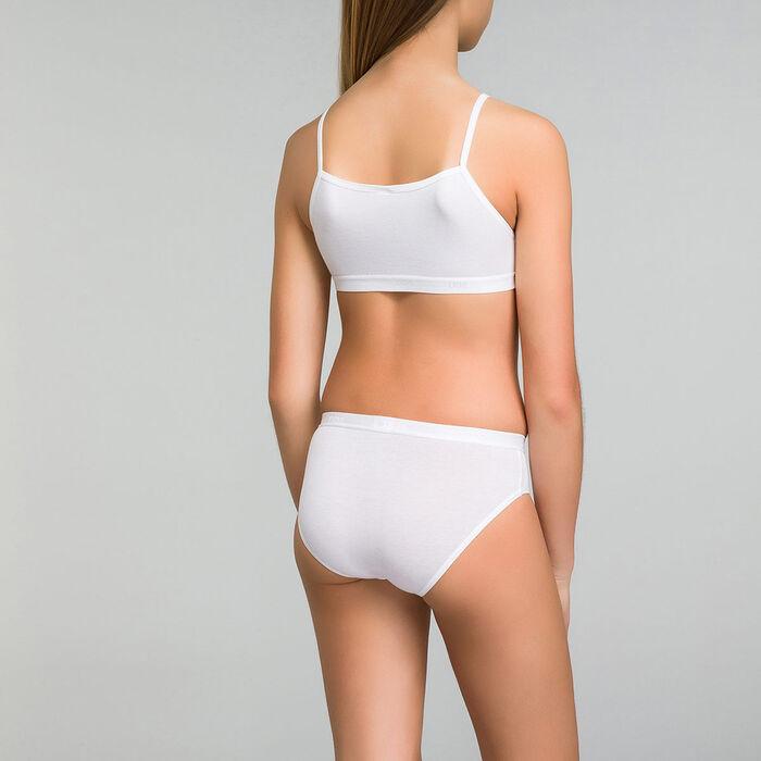 Pack de 2 braguitas niña blancas con estampado - Pocket Basic, , DIM