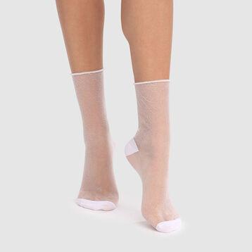 Calcetines transparentes de lurex blancos brillantes Dim Style, , DIM