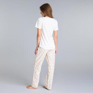 Pantalon de pyjama rose nacre Soft & Cool-DIM
