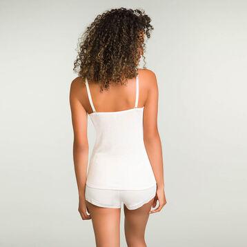 Pantalón corto de pijama de algodón modal marfil Softy Line, , DIM