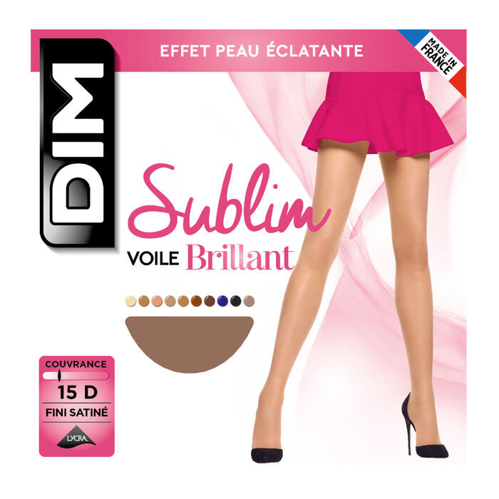 Panti color gacela Sublim velo brillante 15D, , DIM