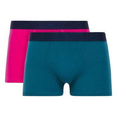 Lot de 2 boxers violets fuchsia et bleu pétrole Mix & Fancy-DIM