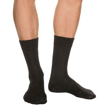 Calcetines negros para hombre de lana, , DIM