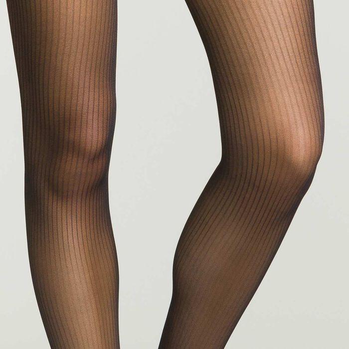 Panti de rayas negro semiopaco , , DIM