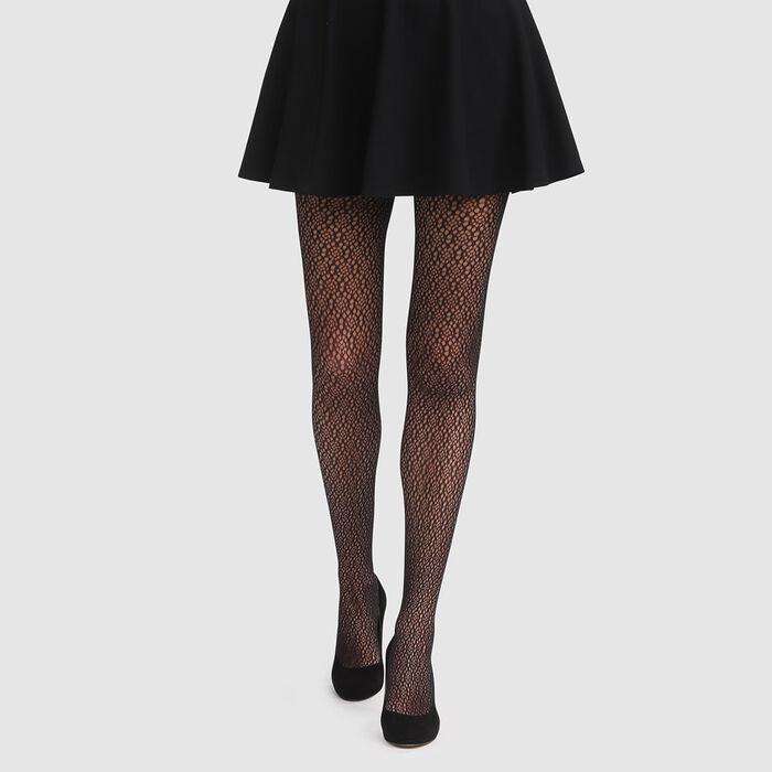 Panty de rejilla gráfico negro Style de Dim, , DIM