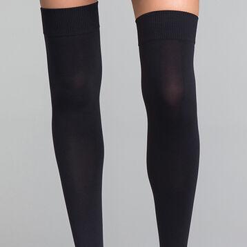 Calcetines altos opacos negros - DIM Style, , DIM