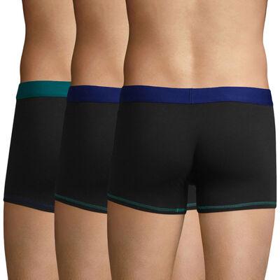Pack de 3 bóxers negros y azules Mix and Colors, , DIM