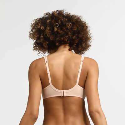 Sujetador sin aros nude con purpurina Generous Limited Edition, , DIM
