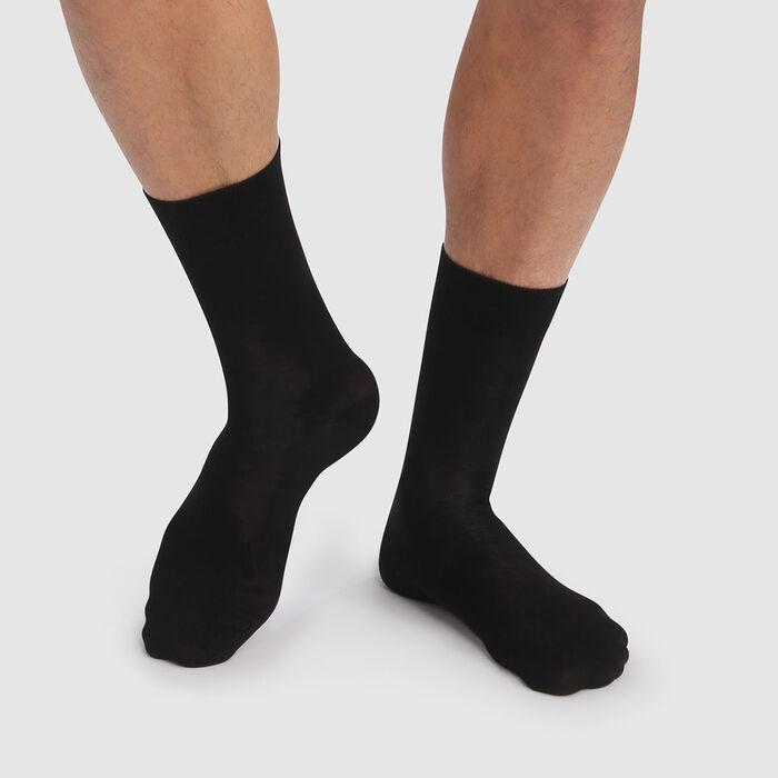 Pack de 2 pares de calcetines para hombre negros de algodón lyocell Green by Dim, , DIM