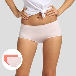 Pack de 2 culottes rosa bailarina y coral Les Pockets EcoDim, , DIM
