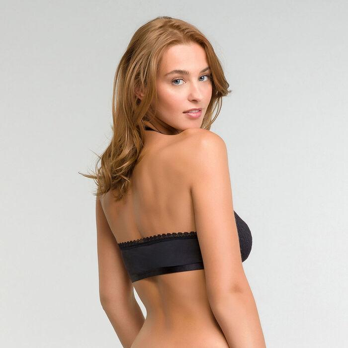 Bralette de encaje espalda desnuda negro - Dim Daily Glam Trendy Sexy, , DIM