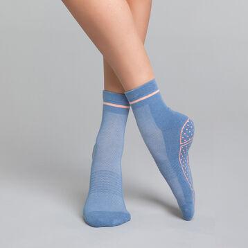 Calcetines de impacto ligero  yoga azules y rosas - Dim Sport, , DIM