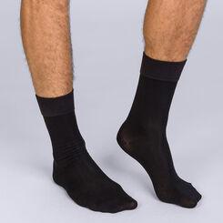 Pack de 2 pares de calcetines de media pantorrilla negros hombre Soft Touch, , DIM