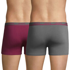 Lot de 2 boxers rouge grenat et gris foncé Ultimate-DIM