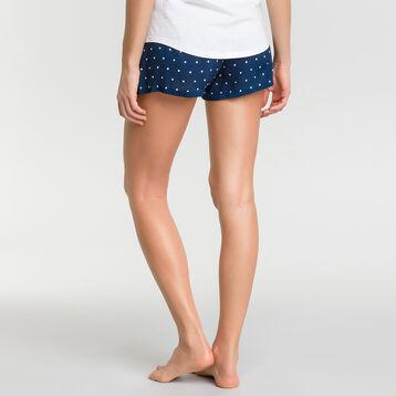 Pantalón corto de pijama estampado plumetis blancos - Fashion , , DIM