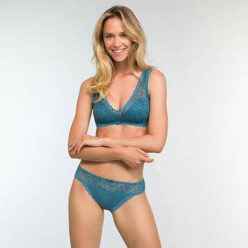 Braguita brasileña verde azulado para mujer Daily Glam Trendy Sexy, , DIM