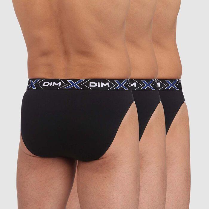 Pack de 3 boxers negros de algodón elástico X-Temp, , DIM