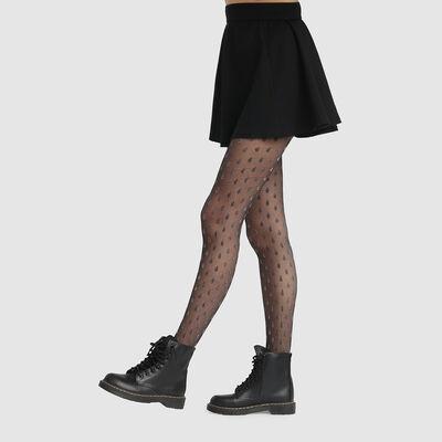 Panti de fantasía estampado gotas brillantes negro lurex Style 20D, , DIM