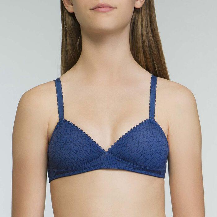 Sujetador niña triangular con copas color azul  Dim Touch, , DIM