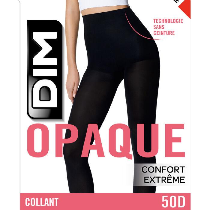 Panti negro opaco aterciopelado sin cintura Style 50D, , DIM