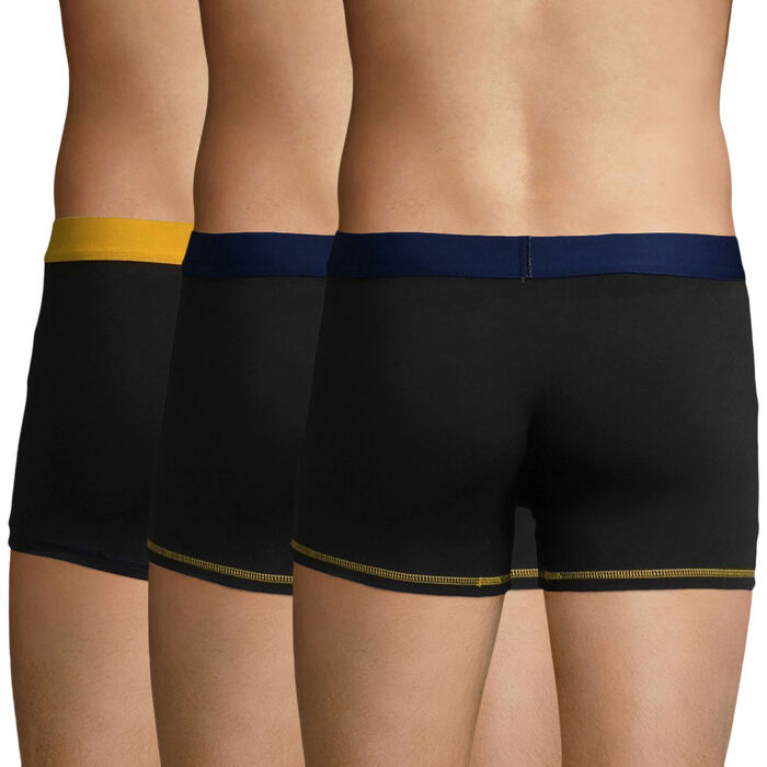 Pack de 3 bóxers negros, azul marino y amarillo Mix and Colors , , DIM