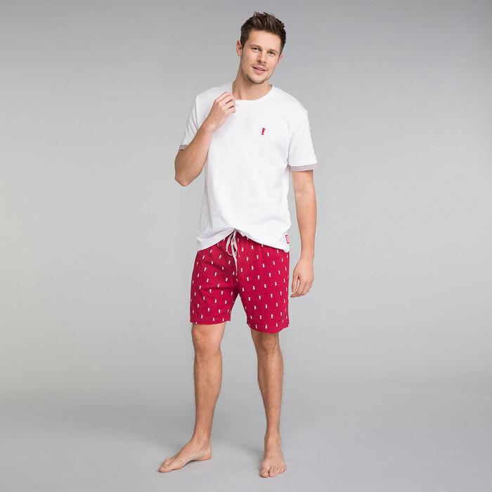 Camiseta de pijama de manga corta blanca - Mix and Match, , DIM