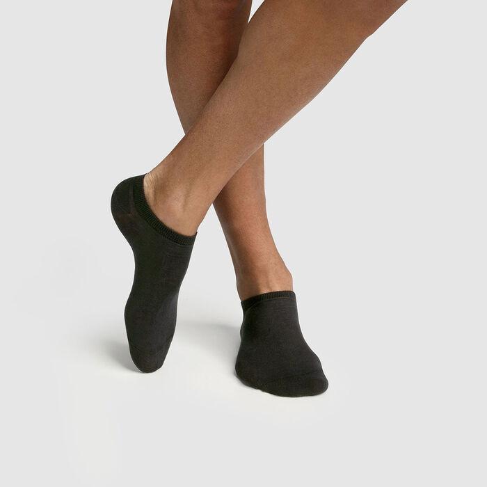 Pack de 2 pares de calcetines bajos para hombre lyocell antracita Green by Dim, , DIM