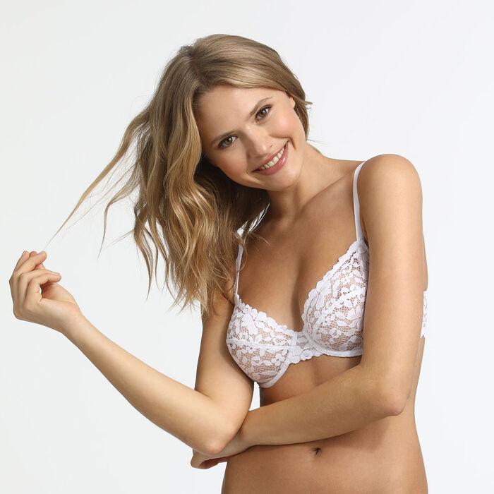 Sujetador para mujer blanco Blooming Lace Dim, , DIM