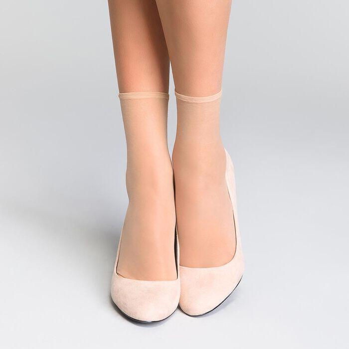 Lote de 2 calcetines de media capri iridiscentes Sublim 14D, , DIM