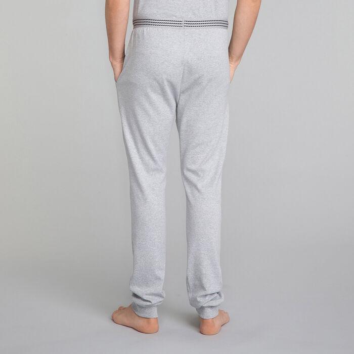 Pantalón jogging gris con bolsillos azules - Essential, , DIM