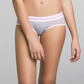 Culotte gris de algodón elástico - Dim Sport, , DIM