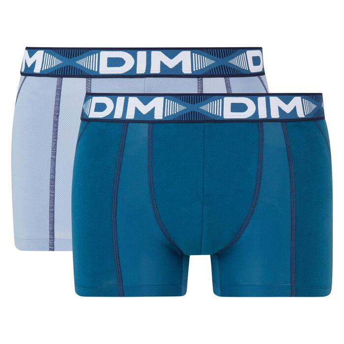 Pack de 2 bóxers antitranspirables azul 3D Flex Air, , DIM