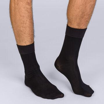 Lot de 2 mi-chaussettes noir Homme Soft Touh-DIM