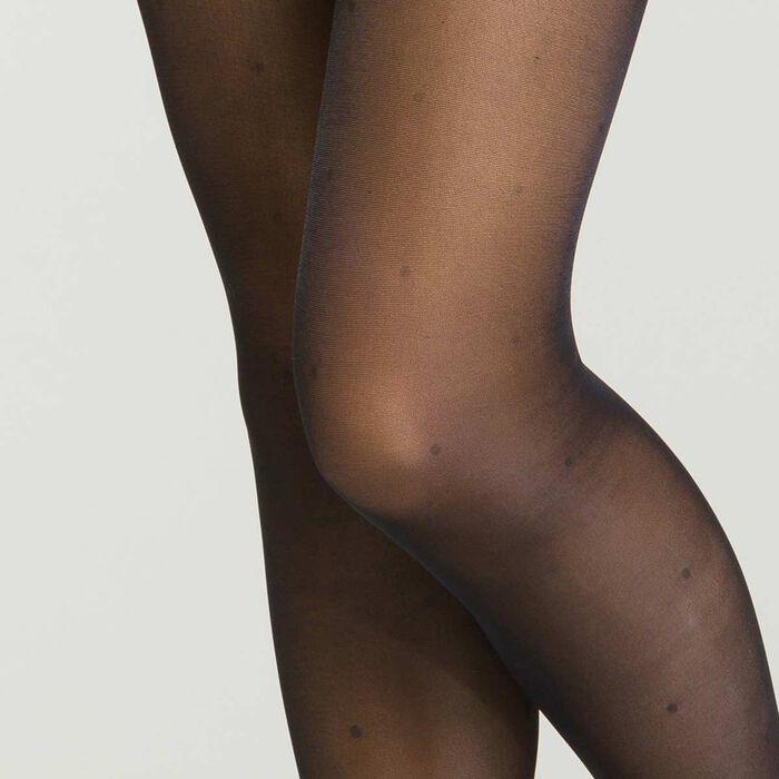 Panty de compresión Piernas Incansables - Perfect Contention DIM negro de fantasía plumetis para mujer, , DIM
