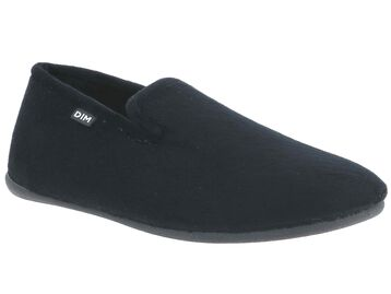 Chaussons type charentaises noirs Homme-DIM