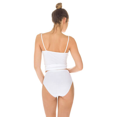Lot de 2 slips blancs Femme Pur Coton taille haute-DIM