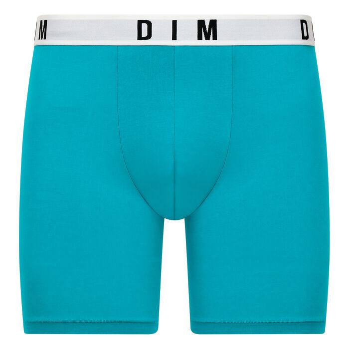 Bóxer largo azul turquesa de algodón y modal - DIM Originals, , DIM