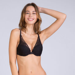 Sujetador fular con push up negro Sublim Dentelle, , DIM