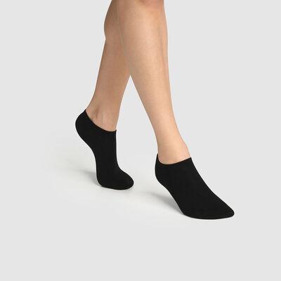 Pack de 2 pares de calcetines bajos para mujer lyocell negro Green by Dim, , DIM