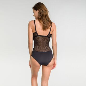Body de encaje negro - Dim Daily Glam Trendy Sexy, , DIM