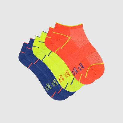 Pack de 3 pares de calcetines bajos para mujer X Temp flúor Dim Sport, , DIM