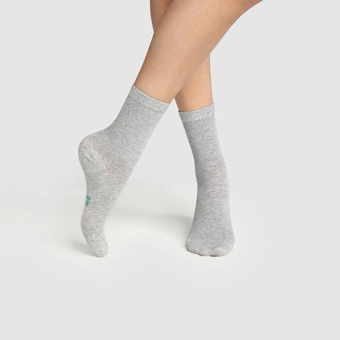 Pack de 2 pares de calcetines para mujer de algodón bio Green by Dim, , DIM